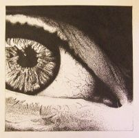 stipple eye by MitchelIsEuphoric