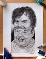Tenacious D Pencil Portrait by AtomiccircuS