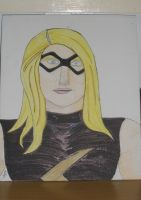 Ms Marvel on canvas panel by Anthony-Callaghan