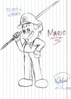 Mario is ready for... by Dino-drawer