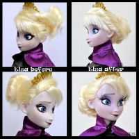 ooak coronation elsa's new hair style. by verirrtesIrrlicht
