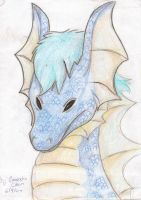 old blue dragon by FuNiSmYwAy