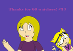 Thanks for 60 watchers! :D by LindaTheHedgehog194