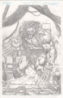 Wolverine, pencils by JulienHB