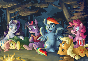 Fireside Friendship by sophiecabra