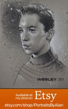 Wesley Crusher - Original Wil Wheaton Portrait by PortraitsByAlan