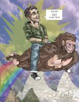 mike on a sasquatch by ejmill28
