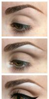 Winged Eyeliner Look by LaurenGibson