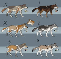Leftover Wolves (closed) by Pred-Adopts