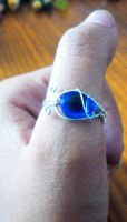 blue snake ring by slinkyskinked