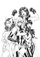 Avengers Girls by Fredbenes