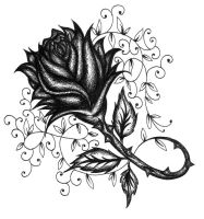 Crosshatched Rose Vine by 13star