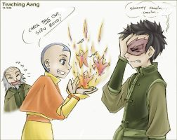 Avatar - Teaching Aang by sora-ko
