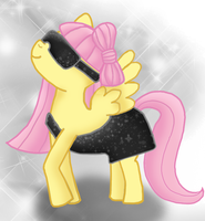 Gaga Pony - Fluttershy by CleoLouiseNile