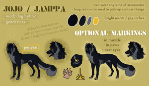 Jojo reference sheet 2015 by jamzenn