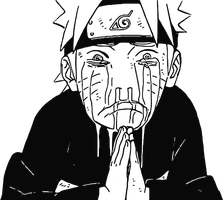 Naruto 572: Naruto Moved to Tears HD Lineart by luke88cb