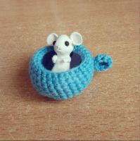 WIP tea cup mousey by judithchen
