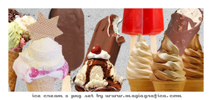 png set ice creams by Magiagrafica