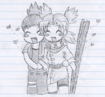 Chibi Love :NaraxTema: by peachpit
