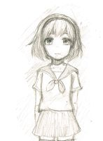 Sketch of a girl by redhotcinnamontwist