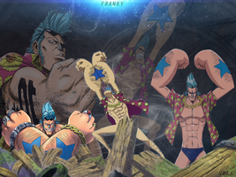 Wallpaper Franky One Piece | TheGraphicsArts  Nola by TheGraphicsArts