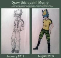 Draw Me Again! Meme - Lin january/august by BlackChesireWolf