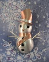 Snowman Broach 07 -- 1st Place by GipsonDiamondJeweler