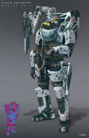 Space Infantry Mobile Unit by Jiahow