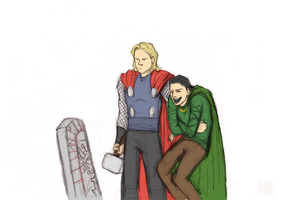 Thor's face by GoreChick