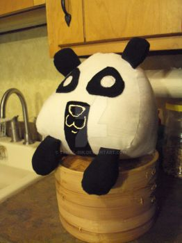 Kuma the Panda Onigiri by Tribal-Ink
