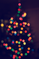 Merry Christmas Bokeh iPhone by atLevel1Alt