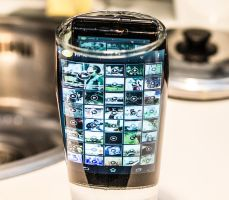 Sony Xperia V - under a glass of water by hmcindie