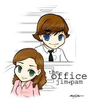 The Office: Jim + Pam by MicahJo