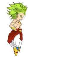 Colored Broly Chibi by Bonezkd