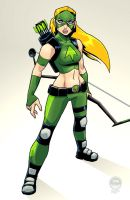 Young Justice Artemis - EoSS Commission by EryckWebbGraphics