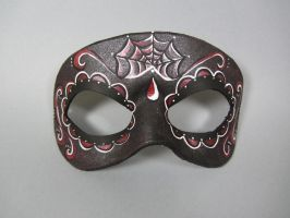 Day of the Dead Red Accented Mask by maskedzone