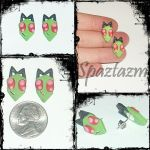 I AM ZIM Alien earrings by spaztazm