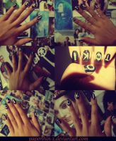 Tokio Hotel Nails by paperthin-z