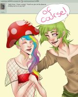 Can I wear your hat? by AskShroomPrince