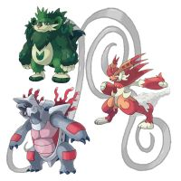 My Second Generation Starters 3 by Random1500
