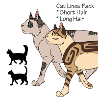 Cat Lines Pack! by Ribbon-Wren