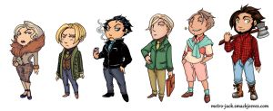 Metro-Jack Chibis by Meam-chan