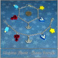 Kingdom Hearts Charm Bracelet by YellerCrakka