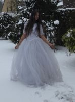 White dress in Snow Stock 2 by NaomiFan