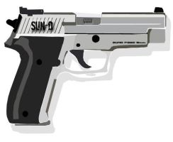 SunD P220 revolver vectorised by Sundaime-sama