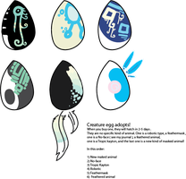 Creature egg adopts! by MUTTD0G
