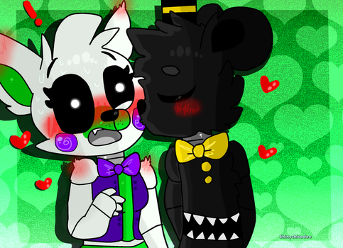 .:RQ Fnaf Tanmare:. Little Cheek Kiss. by shinychicadee