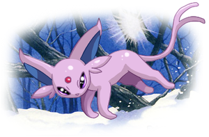Espeon in the Snow by VelocityRiot