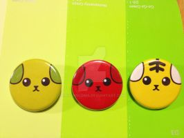 Mameshiba Face Buttons by PauAndLoma