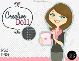 Creative Doll (.PSD /.PNG) by Isfe
